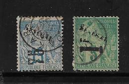 Colonie Sénégal  Timbres De 1892 N°6 Et 7  Oblitérés Cote 460€ Vendu A 15% - Senegal (1887-1944)