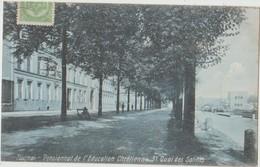 CPA BELGIQUE TOURNAI 31 Quai Des Salines Pensionnat De L'Education Chrétienne 1908 - Doornik