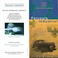 Boulogne Billancourt - Parcours Industriel - Dépliants Touristiques