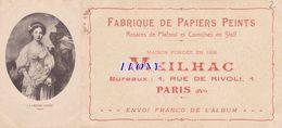 """CPA """"  PUBLICITE  MEILHAC - FABRIQUE De PAPIERS PEINTS - PARIS - Publicité"""