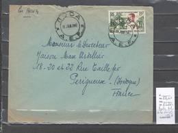 Oubangui Chari - Cachet De Boda - Petit Bureau - 1957  Marcophilie AEF - A.E.F. (1936-1958)