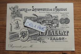 SALON DE PROVENCE HUILLERIE ET SAVONNERIE DE L AQUEDUC / HUILLE D OLIVE / GRAND PRIX EXPO UNIVERSELLE DE 1900 A PARIS - Cartes De Visite