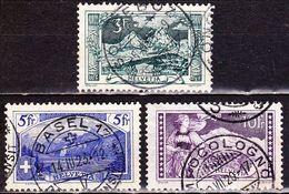 Switzerland / Schweiz / Suisse : 1914 : Landschaften Gestempelter Satz Michel 121 / 123 - Zwitserland