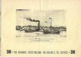 """07538 """"M/N ANTONIO STRADIVARI - SNI DIR. NAVIMAR - CROCIERE SUL PO"""" OPUSCOLO ORIGINALE. - Pubblicità"""