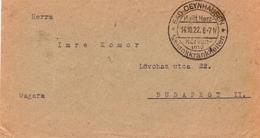 Lettre Bad Oeynhausen 1922 Deutschland Budapest Ungard - Briefe U. Dokumente