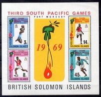 Iles SALOMON  Timbres Neufs ** De 1969  ( Ref 5720 )  Jeux Sportifs Du Pacifique - Sport - - Salomon (Iles 1978-...)