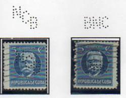 2 Perfors Perfin Cuba - Kuba