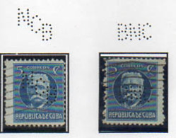 2 Perfors Perfin Cuba - Usados