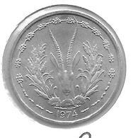 *west African State 1 Franc 1974 Km 3.1   Bu - Monedas