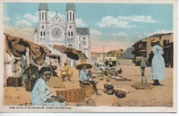 HAITI  UNE IDYLLE AU MARCHE  PORT ZU PRINCE - Cartes Postales