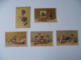 LOT DE 5 CHROMOS - Trade Cards