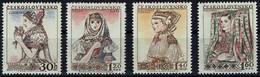Tschechoslowakei Czechoslovakia CSSR 1956 - Trachten - MiNr 994-997** - Kostüme
