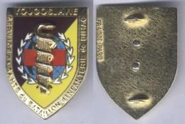 Insigne Du Service De Santé Du Bataillon D'Infanterie De Bihac - Matriculé - Services Médicaux