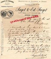 16- RUFFEC- RARE LETTRE MANUSCRITE SIGNEE SAGET & ED. FAYET - MANUFACTURE CHAUSSURES EN BASANE-1886 - France