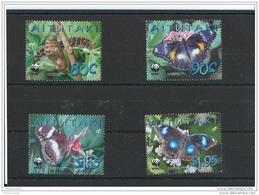 AITUTAKI 2008 - YT N° 595/598 NEUF SANS CHARNIERE ** (MNH) GOMME D'ORIGINE LUXE - Aitutaki