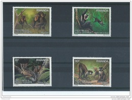 RWANDA 1988 - YT N° 1259/1262 NEUF SANS CHARNIERE ** (MNH) GOMME D'ORIGINE LUXE - Rwanda