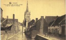 LOUVAIN    Rue Du Oirier, La Dyle, Et Tour De L' église St Gertrude. - Tienen