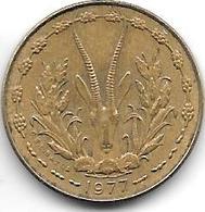 *west African States  5 Francs 1977  Km 2a Unc - Monnaies