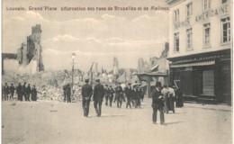 LOUVAIN   Grand Place Bifurcation Des Rues De Bruxelles Et De Malines. - Tienen