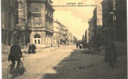 LOUVAIN  Perspective De La Rue De La Station Et Le Théâtre. - Tienen