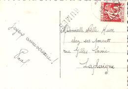 C.fantaisie TP 339 TOURNAI 2 + Griffe En Bleu RUMES - Poststempel