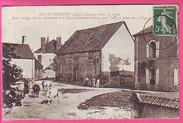 HENRICHEMONT CHER MAISON 1608 VESTIGE CONSTRUCTION VILLAGE PAR SULLY TROUPEAU VACHES CP ANIMEE - Henrichemont