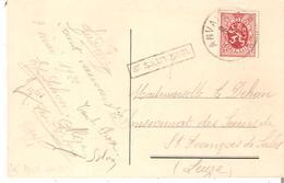 C.fantaisie TP 282 ANVAING + GRIFFE Encadrée St.SAUVEUR - Poststempel