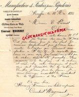 16- RUFFEC- RARE LETTRE MANUSCRITE SIGNEE CONSTANT MAGNANT 1888- FABRIQUE CHANDELLES SUIFS CHIFFONS CUIRS - France