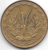 *west African States  10 Francs 1970  Km 1a Unc - Autres – Afrique