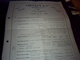 Publicité   Ets Coulaux Machines Industrielles A Molsheim  Bas Rhin  Annee 1936 - Publicités
