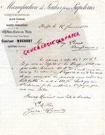 16 - RUFFEC- RARE LETTRE MANUSCRITE SIGNEE CONSTANT MAGNANT- MANUFACTURE FEUTRE POUR PAPETERIE-DABRIQUE CHANDELLES-1888 - France