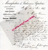 16 - RUFFEC- RARE LETTRE MANUSCRITE SIGNEE CONSTANT MAGNANT- MANUFACTURE FEUTRE POUR PAPETERIE-DABRIQUE CHANDELLES-1887 - France