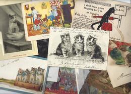 Lot 1496 De 10 CPA CPSM Chat Cat Dont Position Humaine Déstockage Pour Revendeurs Ou Collectionneurs - Postcards