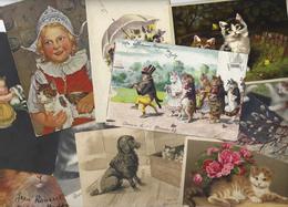 Lot 1497 De 10 CPA CPSM Chat Cat Dont Position Humaine Déstockage Pour Revendeurs Ou Collectionneurs - Postcards