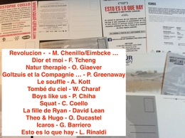 12 Cartes Postales : Films Cinéma (voir Les Titres Sur Photo) (Lot A3) - Non Classés