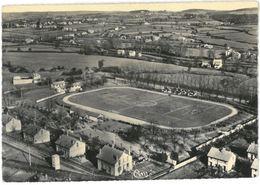 CPSM MONTCEAU LES MINES - Stade Des Alouettes - Vue Aérienne - Ed. Combier N°345-19 A - Montceau Les Mines
