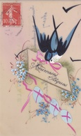 ¤¤  -   Cartes Fantaisie En Célluloïde   -  Heureuses Pâques  -  Oeufs , Oiseau  -  ¤¤ - Pâques