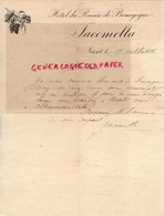 79- NIORT - RARE LETTRE MANUSCRITE SIGNEE JACOMELLA-HOTEL DU RAISIN DE BOURGOGNE-1892 - France