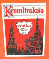 étiquette De Vodka Kremlinskaia Pagès à Le Puy En Velay 70 Cl - 40 °/° - Kremlin - Other