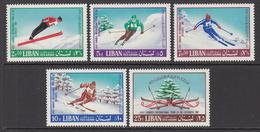 1968 Lebanon/ Liban International Skiing Congress Set Of 5 MNH - Libanon