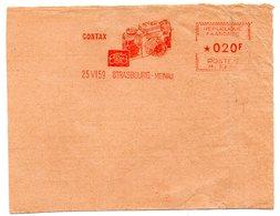 RHIN / Bas - Dépt N° 67 = STRASBOURG MEINAU 1959 = EMA Illustrée D'un Appareil Photo 'CONTAX' - Marcophilie (Lettres)