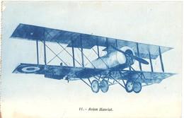3680 Carte Postale 11 Avion Bi Plan HANRIOT Dos écrit - 1919-1938: Entre Guerres