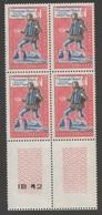 FRANCE 1962   N°YT 1353  **   Bloc De 4 Avec N° De Rotative IB 12   / Messager Royal Fin Du Moyen-Age  / MNH - Frankrijk