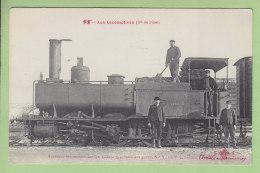 Cie De L'Est : Ancienne Locomotive Tender V. 6 Pour Service Des Gares. TBE. 2 Scans. Locomotives, Edition Fleury - Matériel