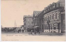 Libramont, Hotel Duroy, Place De La Station. Paard En Wagen. - Libramont-Chevigny