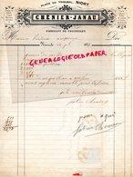 79- NIORT - RARE LETTRE MANUSCRITE SIGNEE CHENIER JANAU-FABRICANT CHANDELLES- PLACE TRIBUNAL 1877 - France