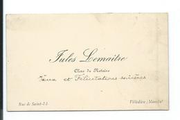 CARTE De VISITE.. Jules LEMAITRE, Clerc De Notaire, Rue De Saint Lô à VILLEDIEU (50) - Cartes De Visite