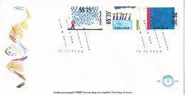 Nederland - FDC - Kinderzegels, Kind En Water - Regen/wedstrijdzwemmen/zwemproef - NVPH E260 - Kindertijd & Jeugd
