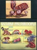 """GUYANA 2000** - Funghi / Mushrooms - """"The Stamp Show 2000"""" - Miniblock + Block Di 6 Val. MNH, Come Da Scansione. - Funghi"""