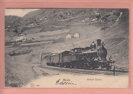 OUDE POSTKAART  ZWITSERLAND - SVIZZERA - TREIN - TRENO - AIROLO - GOTTHARD EXPRESS - 1906 - TI Tessin